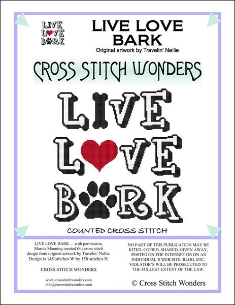 click here to view larger image of Live Love Bark (chart)