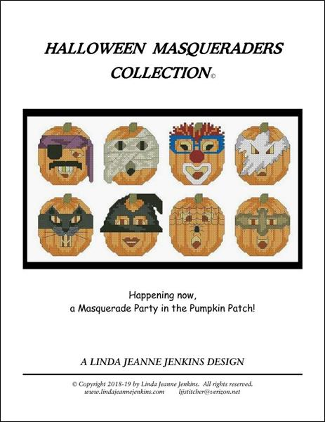 click here to view larger image of Halloween Masqueraders Collection (chart)