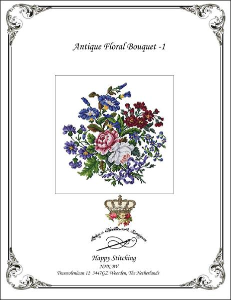 click here to view larger image of Antique Floral Bouquet - 1 (chart)