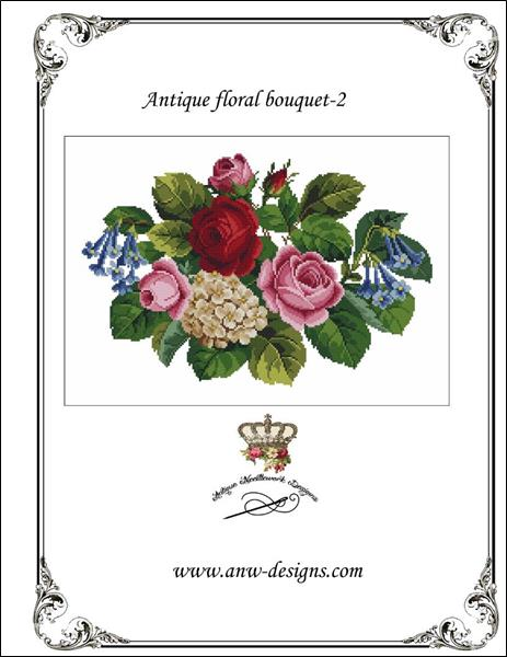 click here to view larger image of Antique Floral Bouquet - 2 (chart)