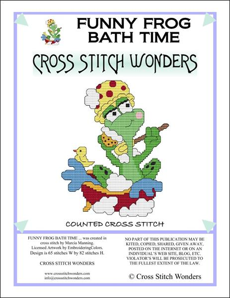 click here to view larger image of Funny Frog Bath Time (chart)
