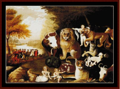 click here to view larger image of Peaceable Kingdom (chart)
