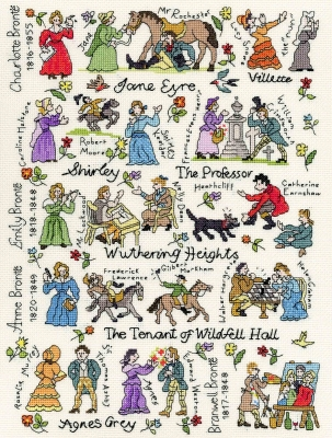 click here to view larger image of Brontes Historical Collection (counted cross stitch kit)