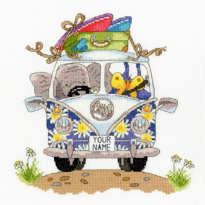 click here to view larger image of Pack Your Trunk - Elly Collection (counted cross stitch kit)