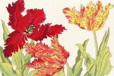 click here to view larger image of Tulip Blooms (counted cross stitch kit)