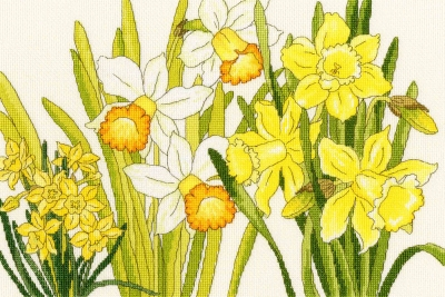 click here to view larger image of Daffodil Blooms (counted cross stitch kit)