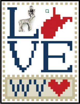 click here to view larger image of Love Bits States - Love West Virginia (chart)