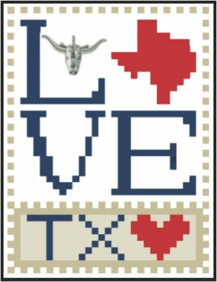 click here to view larger image of Love Bits States - Love Texas (chart)
