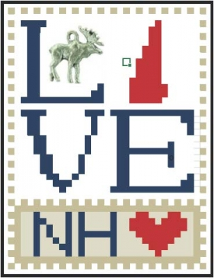 click here to view larger image of Love Bits States - Love New Hampshire (chart)