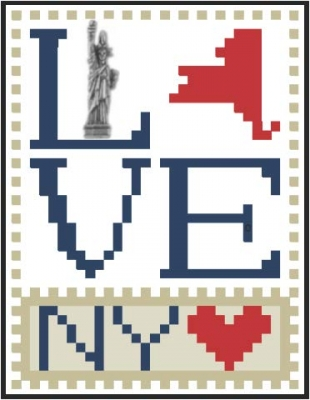 click here to view larger image of Love Bits States - Love New York (chart)