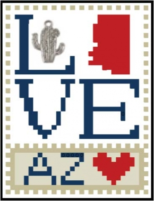 click here to view larger image of Love Bits States - Love Arizona (chart)
