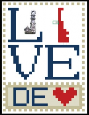click here to view larger image of Love Bits States - Love Delaware  (chart)