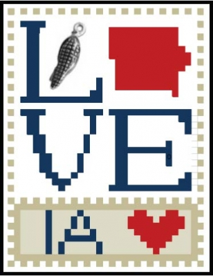 click here to view larger image of Love Bits States - Love Iowa (chart)