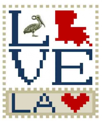 click here to view larger image of Love Bits States - Love Louisiana  (chart)