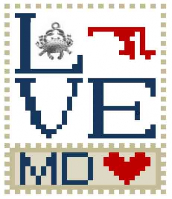 click here to view larger image of Love Bits States - Love Maryland (chart)
