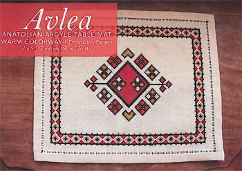click here to view larger image of Anatolian Argyle Table Mat - Warm (chart)