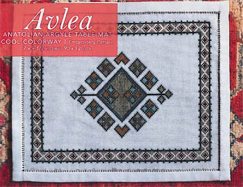 click here to view larger image of Anatolian Argyle Table Mat - Cool (chart)