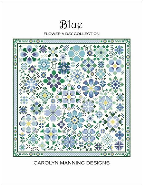 click here to view larger image of Flower A Day Collection - Blue (chart)