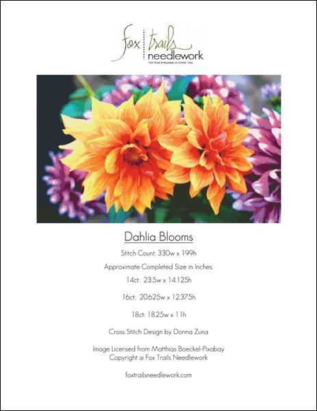click here to view larger image of Dahlia Blooms (chart)
