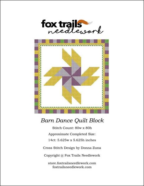 click here to view larger image of Barn Dance Quilt Block (chart)