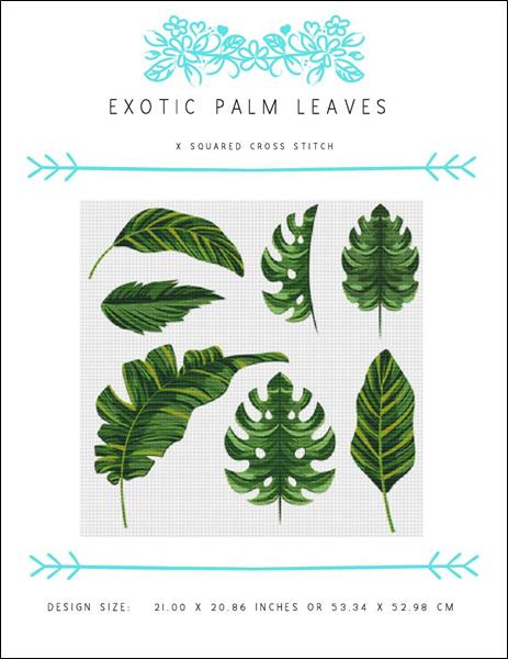 click here to view larger image of Exotic Palm Leaves (chart)