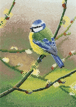 click here to view larger image of Blue Tit (chunky cross stitch kit)