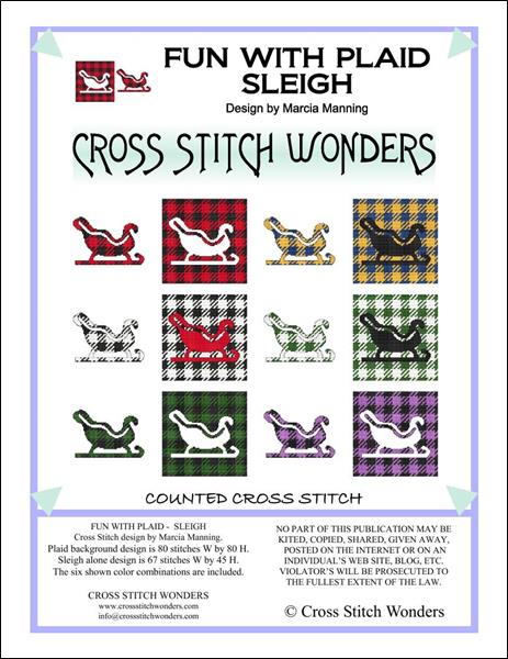 click here to view larger image of Fun With Plaid - Sleigh (chart)