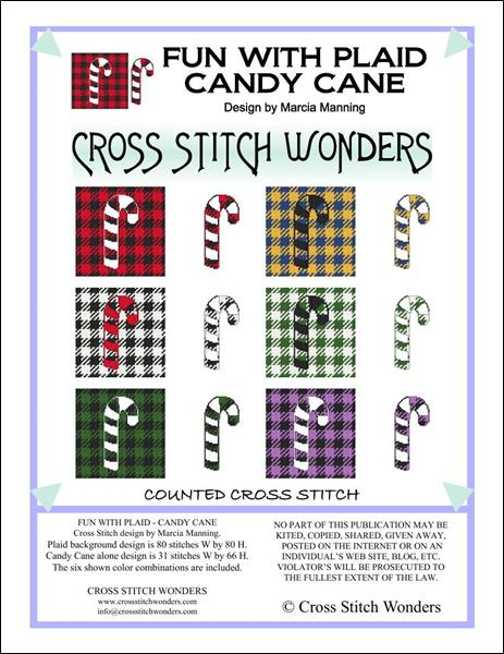 click here to view larger image of Fun With Plaid - Candy Cane (chart)
