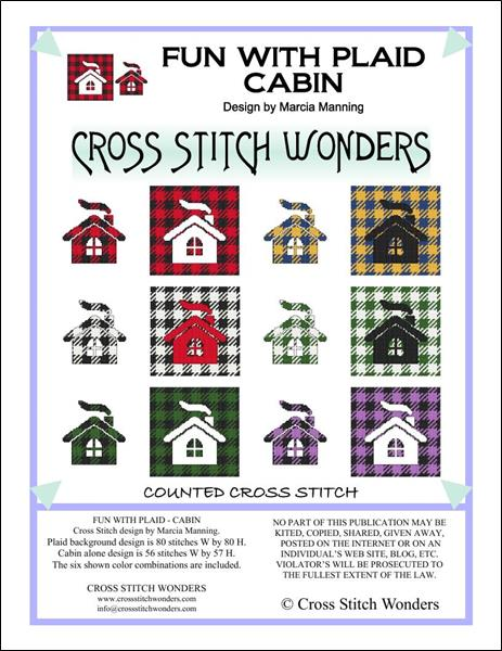 click here to view larger image of Fun With Plaid - Cabin (chart)