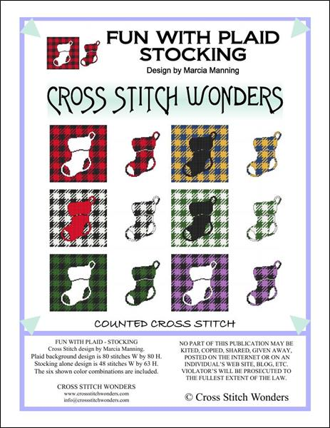 click here to view larger image of Fun With Plaid - Stocking (chart)