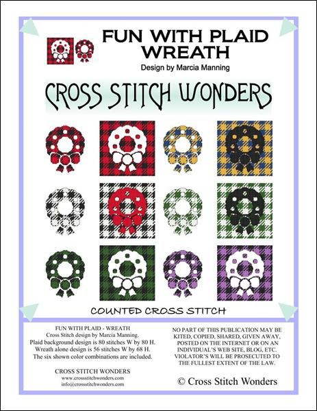 click here to view larger image of Fun With Plaid - Wreath (chart)