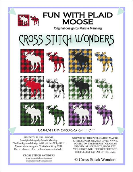 click here to view larger image of Fun With Plaid - Moose (chart)