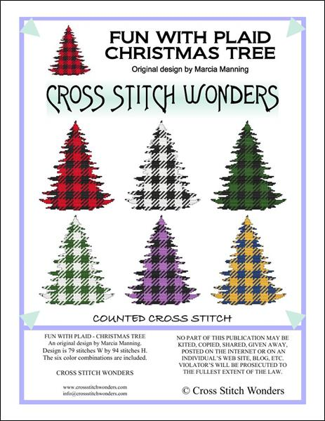 click here to view larger image of Fun With Plaid - Christmas Tree (chart)
