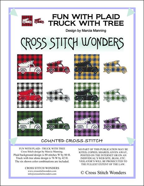 click here to view larger image of Fun With Plaid - Truck With Tree (chart)