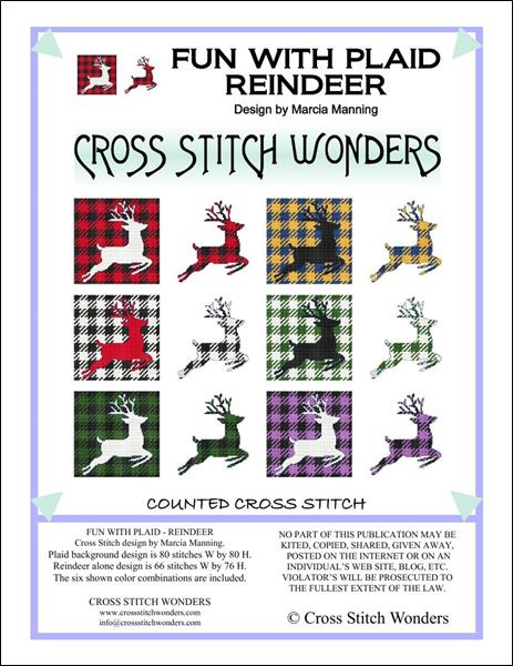 click here to view larger image of Fun With Plaid - Reindeer (chart)