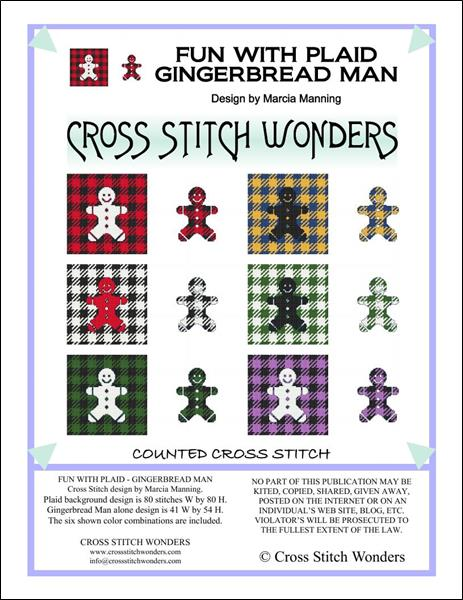 click here to view larger image of Fun With Plaid - Gingerbread Man (chart)