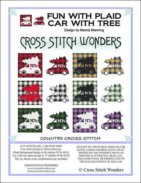 click here to view larger image of Fun With Plaid - Car With Tree (chart)