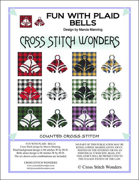 click here to view larger image of Fun With Plaid - Bells (chart)