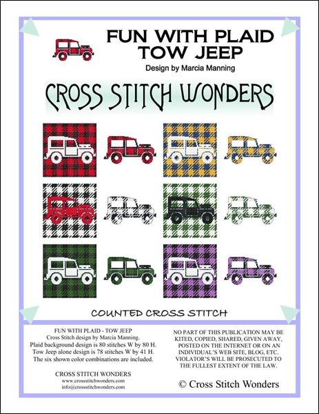 click here to view larger image of Fun With Plaid - Tow Jeep (chart)