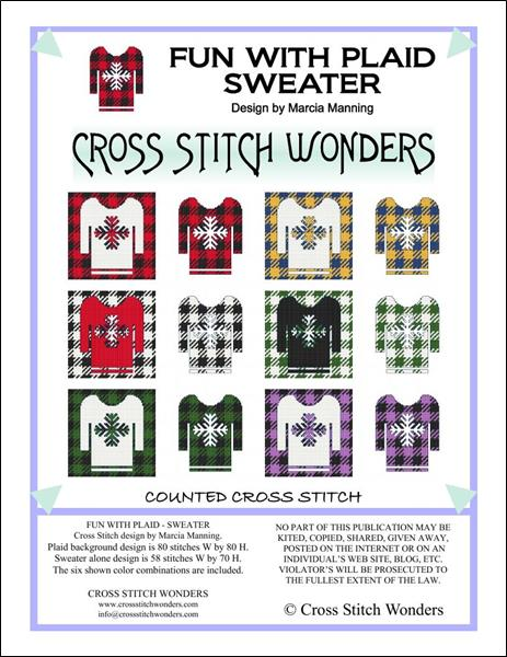 click here to view larger image of Fun With Plaid - Sweater (chart)