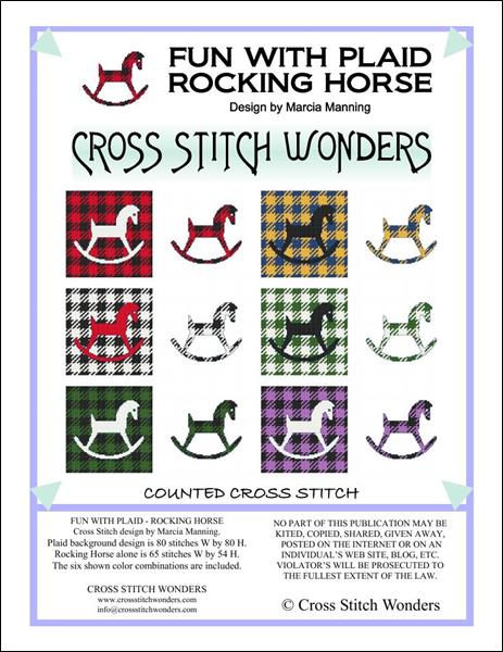 click here to view larger image of Fun With Plaid - Rocking Horse (chart)