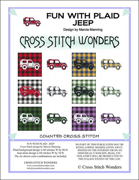 click here to view larger image of Fun With Plaid - Jeep (chart)
