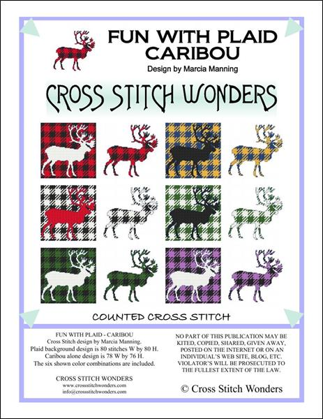 click here to view larger image of Fun With Plaid - Caribou (chart)
