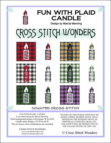click here to view larger image of Fun With Plaid - Candle (chart)