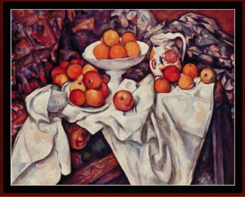 click here to view larger image of Apples and Oranges - Cezanne (chart)