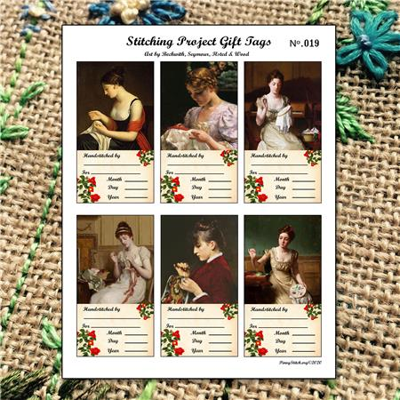 click here to view larger image of Cross Stitch Gift Tags Ladies Stitching No.019 (accessory)