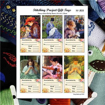 click here to view larger image of Cross Stitch Gift Tags Ladies Stitching No.018 (accessory)