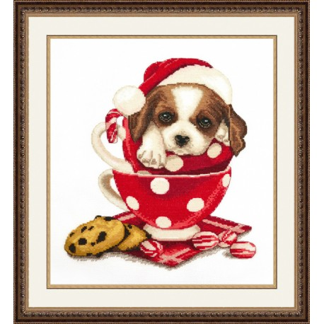 click here to view larger image of Christmas St Bernard (counted cross stitch kit)