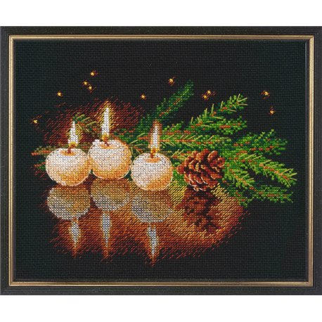 click here to view larger image of Candle was Burning, A (counted cross stitch kit)