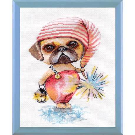 click here to view larger image of Little Gnome (counted cross stitch kit)